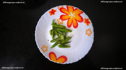 Fried Green Chilies