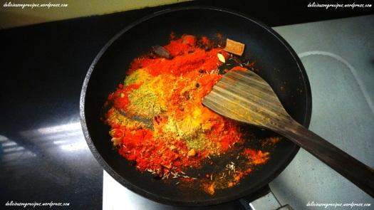 Add powdered masalas