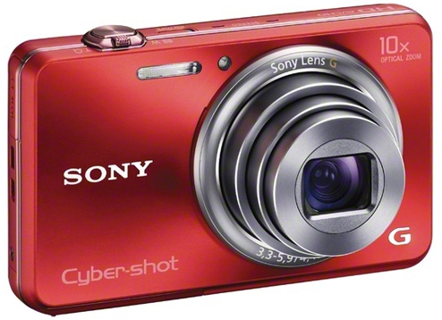 Sony 18.2 Mega Pixel W Series 10x Optical Zoom Cyber-shot(Red)