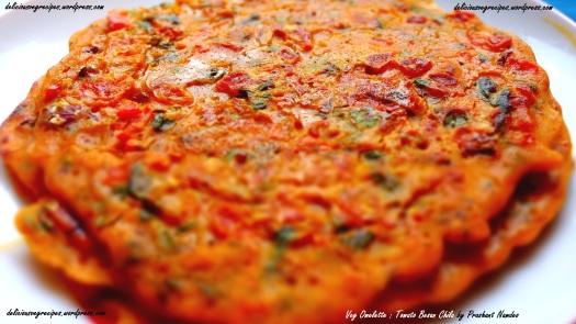 Veg Omelette : Tomato Besan Chila